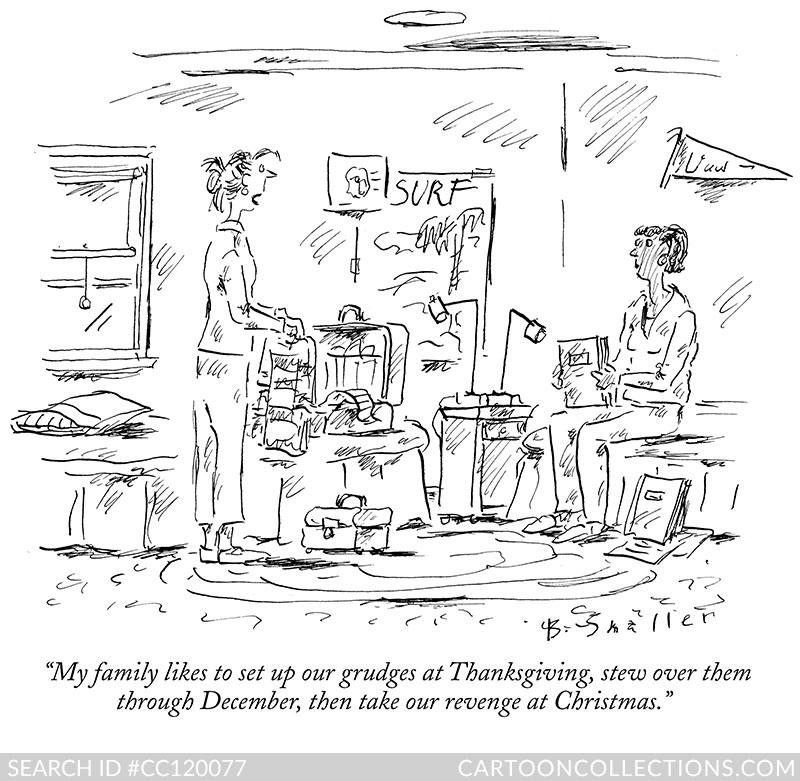 CartoonCollections.com - Thanksgiving cartoons - Barbara Smaller