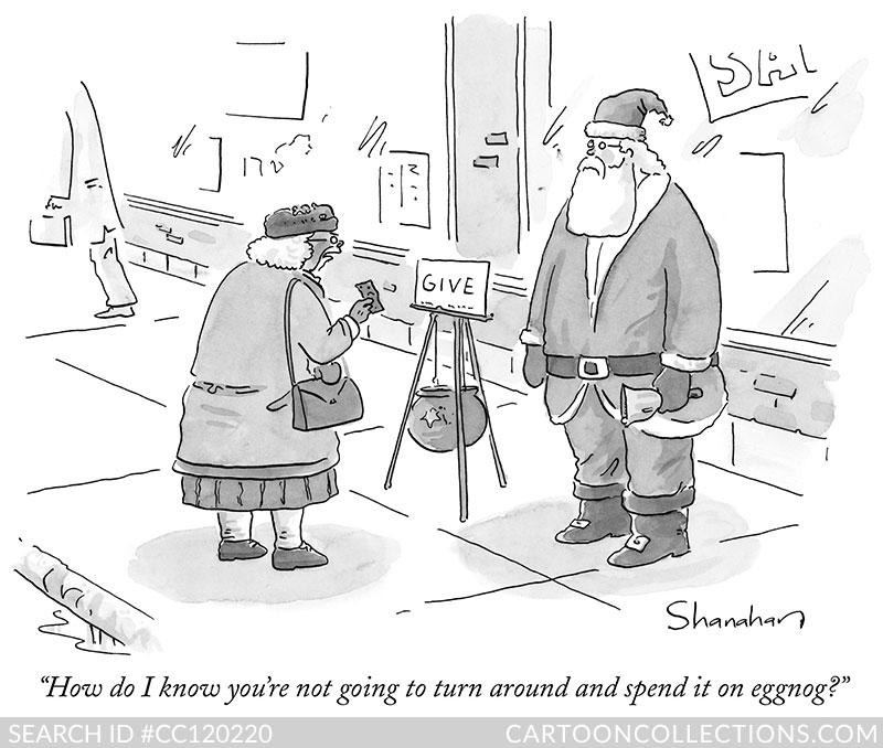 CartoonCollections.com - Bad Santa cartoons - Danny Shanahan