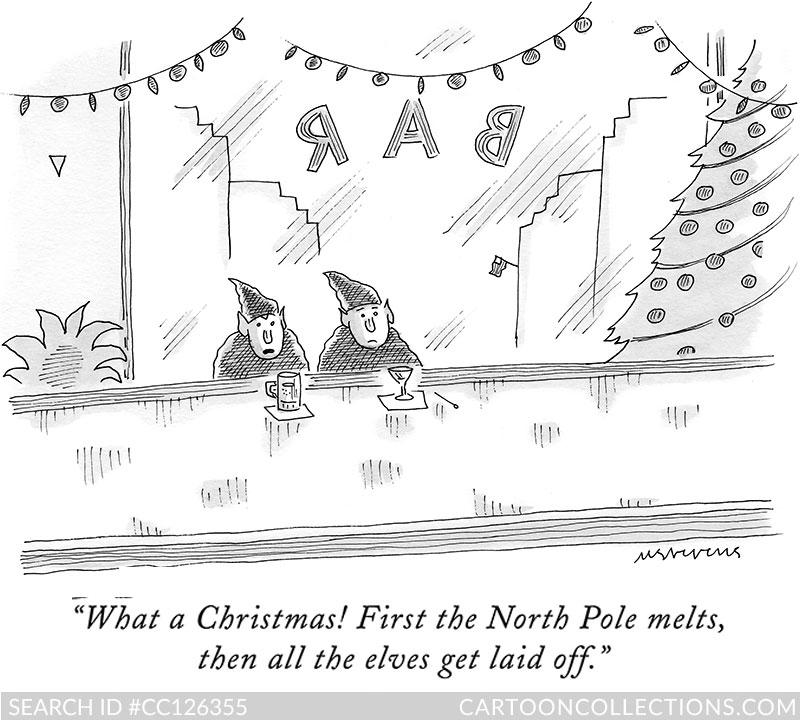 CartoonCollections.com - Bad Santa cartoons - Mick Stevens