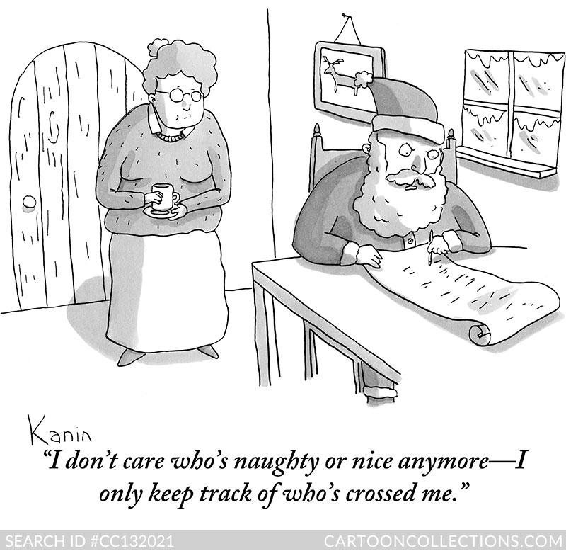 CartoonCollections.com - Bad Santa cartoons - Zachary Kanin