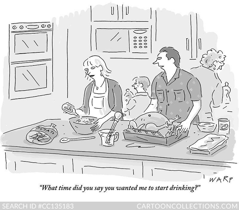 CartoonCollections.com - Thanksgiving cartoons - Kim Warp