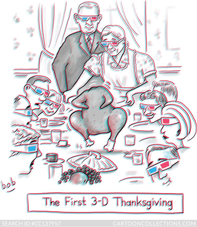 CartoonCollections.com - Thanksgiving cartoons - Bob Eckstein