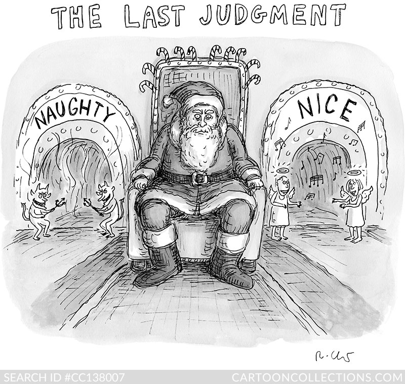 CartoonCollections.com - Bad Santa cartoons - Roz Chast