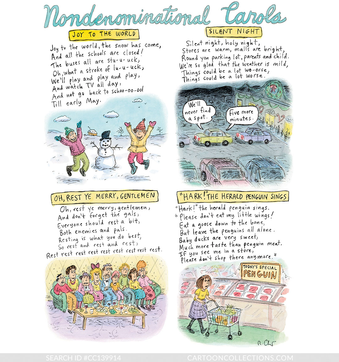 CartoonCollections.com - Christmas cartoons - Roz Chast