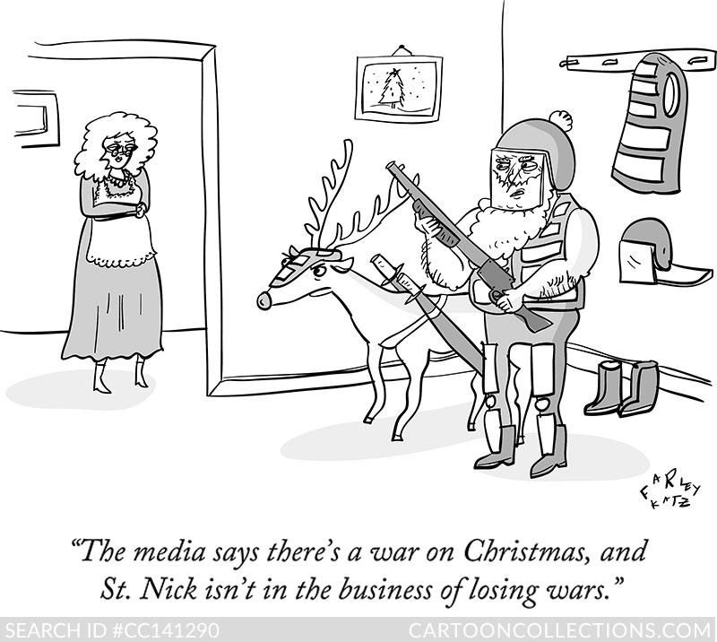 CartoonCollections.com - Bad Santa cartoons - Farley Katz