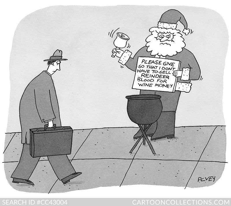 CartoonCollections.com - Bad Santa cartoons - P.C. Vey