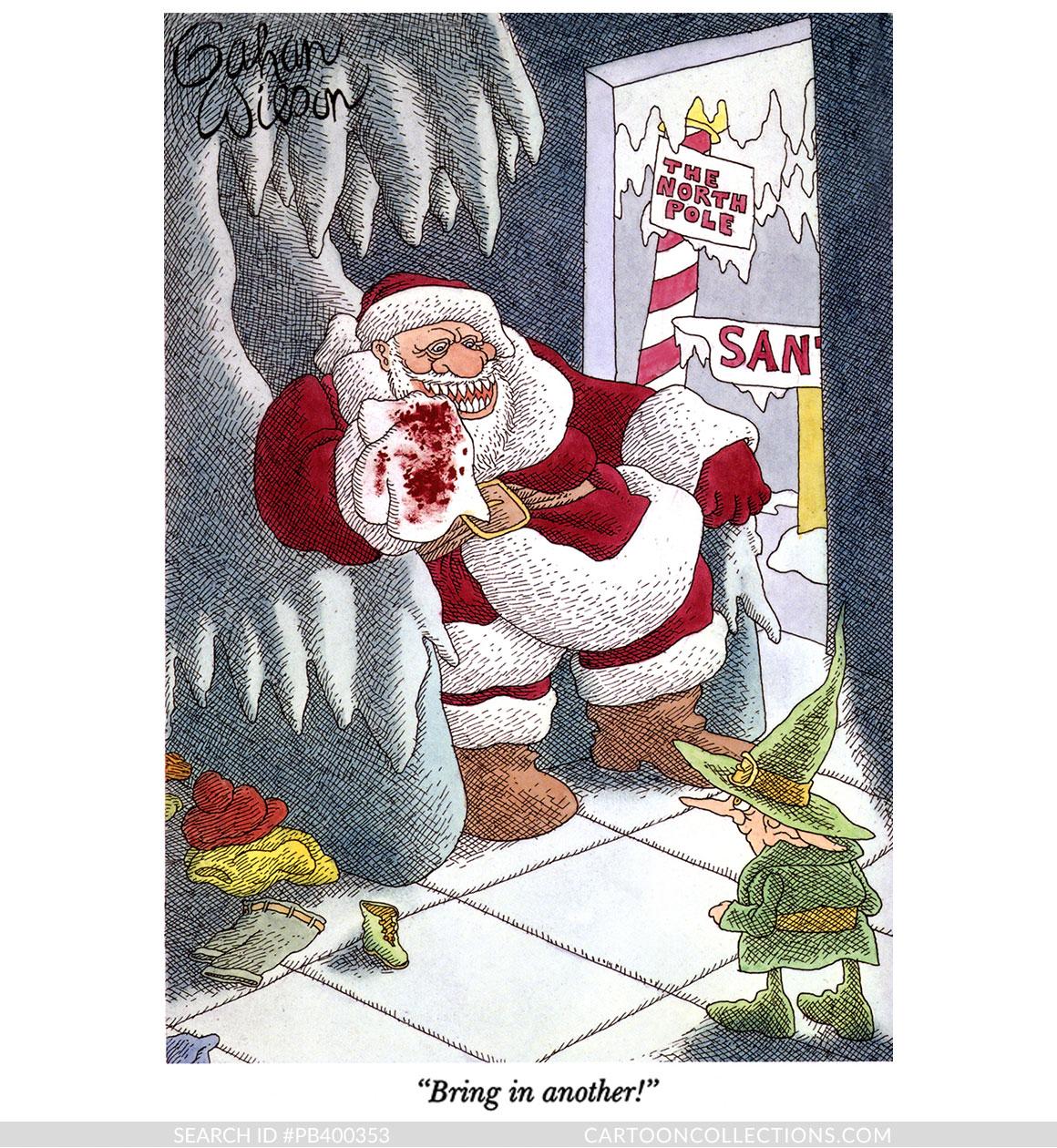 CartoonCollections.com - Bad Santa cartoons - Gahan Wilson