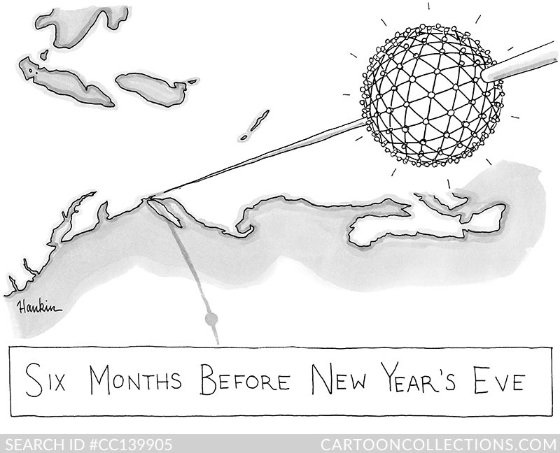 CartoonCollections.com - New Year's cartoons - Charlie Hankin