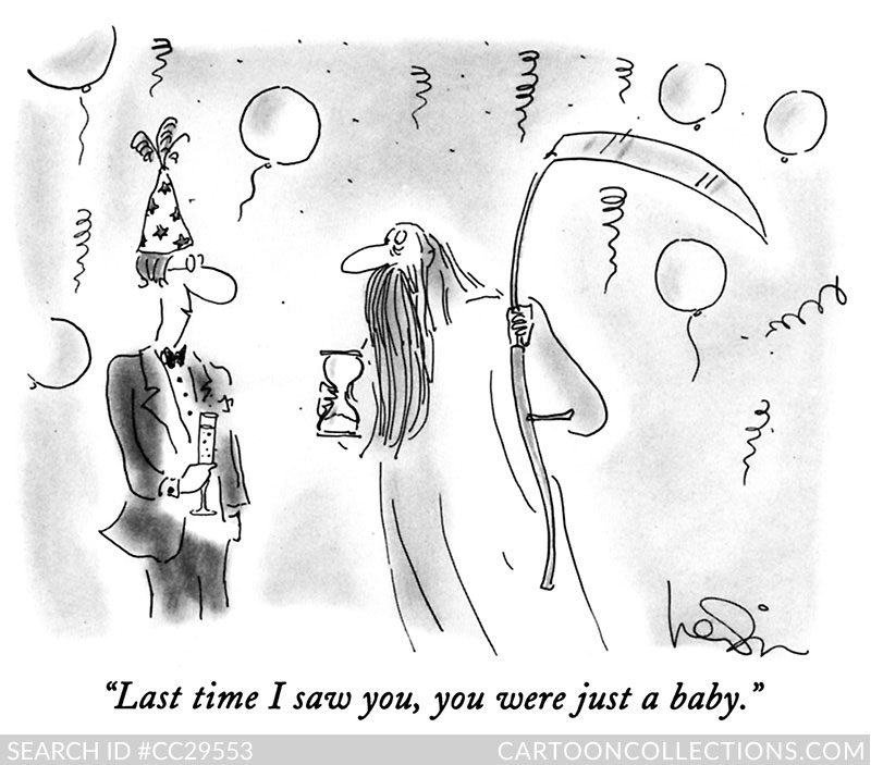 CartoonCollections.com - New Year's cartoons - Arnie Levin
