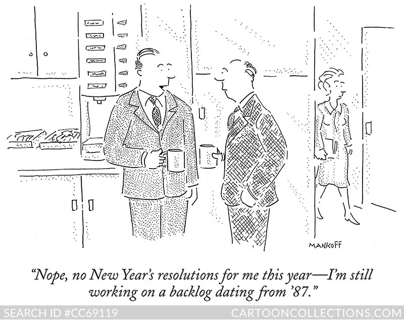 New Yorker Cartoons for the New Year (plus a few) - Cartoon Collections Blog