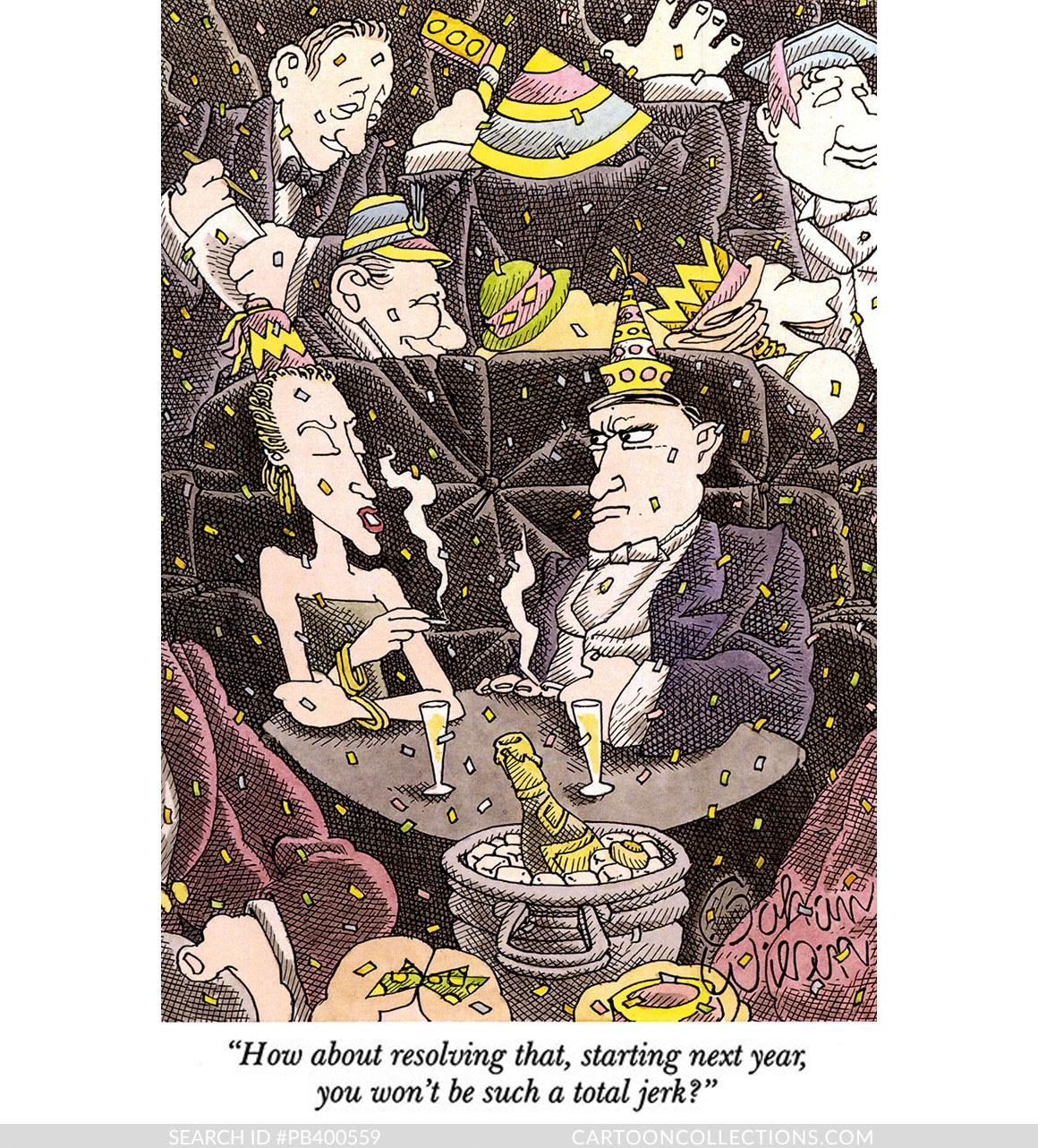 CartoonCollections.com - New Year's cartoons - Gahan Wilson