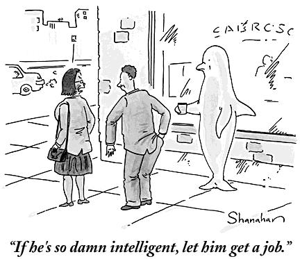 Danny Shanahan and Larry Wood, New Yorker Cartoon Caption Contest winner