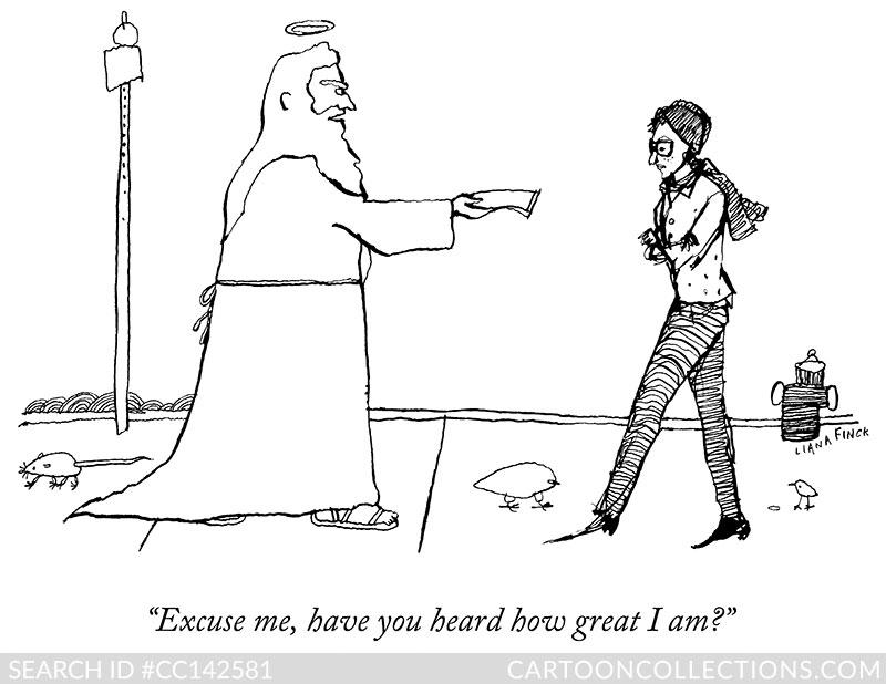 CartoonCollections.com - Liana Finck - God Cartoons
