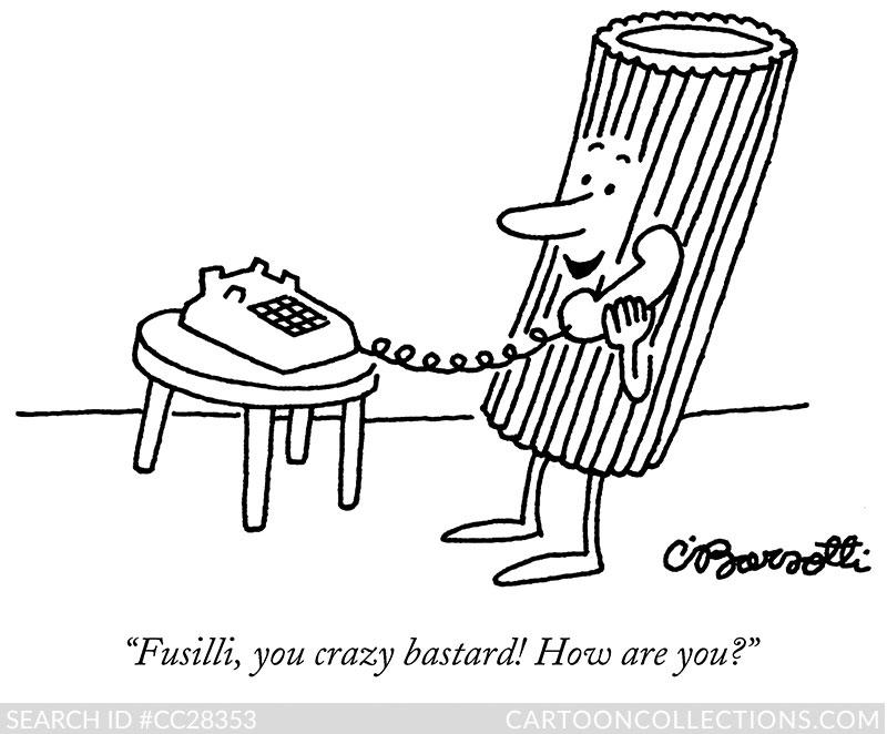 Charles Barsotti New Yorker cartoons, Fusilli