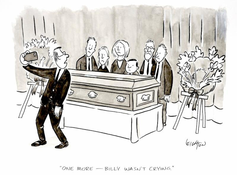 """One More - Billy Wasn't Crying."" Original Social Media Cartoons from The New Yorker"