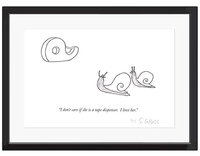 Sam Gross signed print