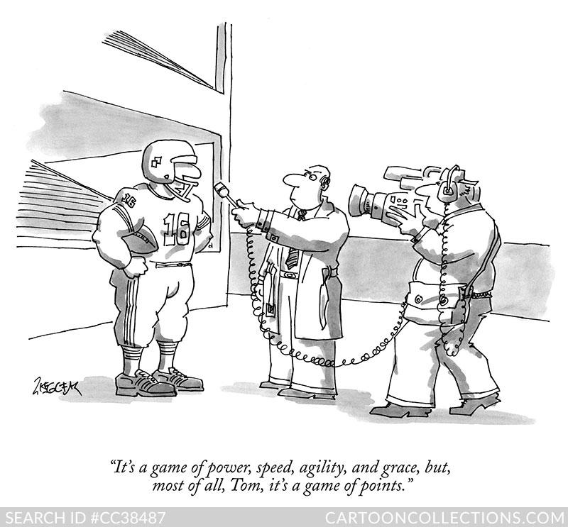 Jack Ziegler football cartoons