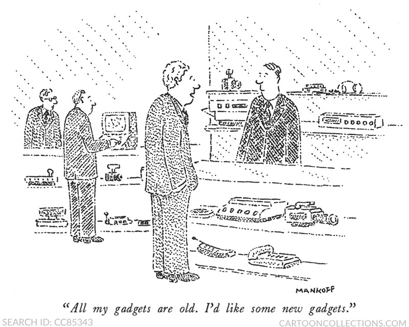 Mankoff gadget guy cartoon