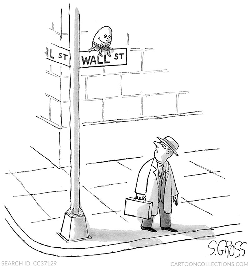 Sam Gross cartoons, stock market cartoons