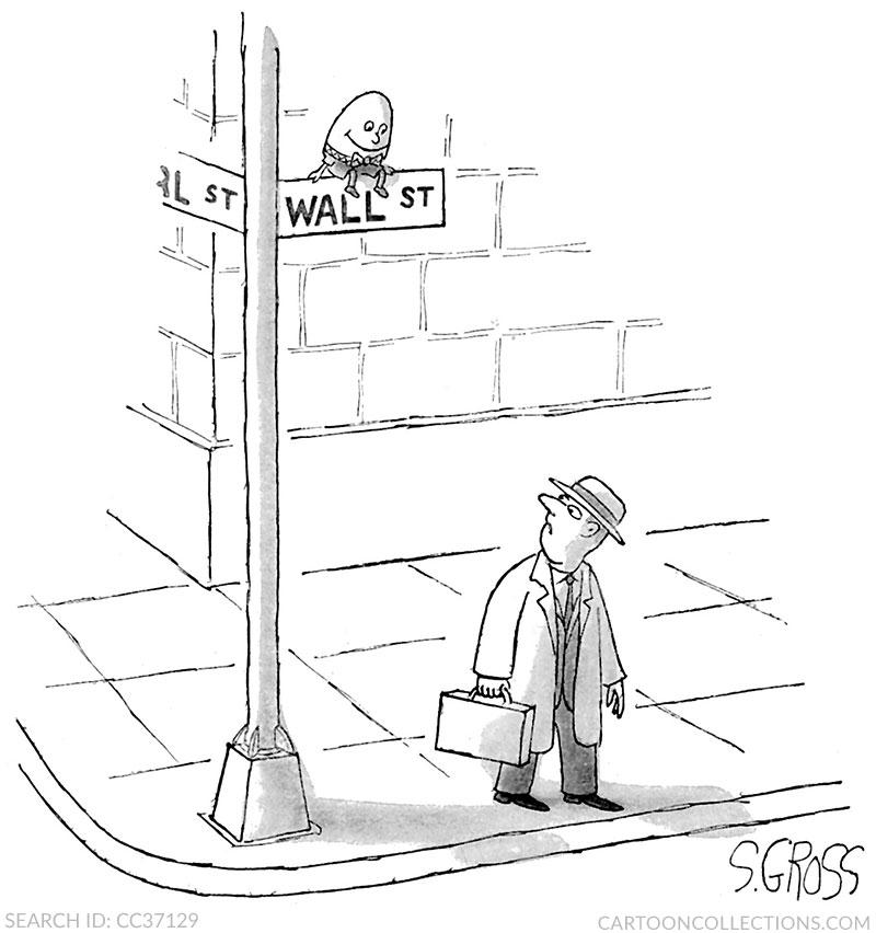 Sam Gross cartoons, stock market cartoons