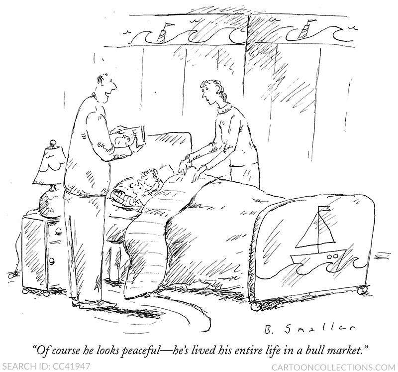 Barbara Smaller cartoons, stock market cartoons
