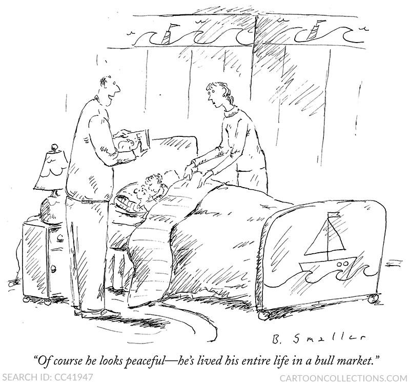 Barbara Smaller cartoons, stock market cartoons