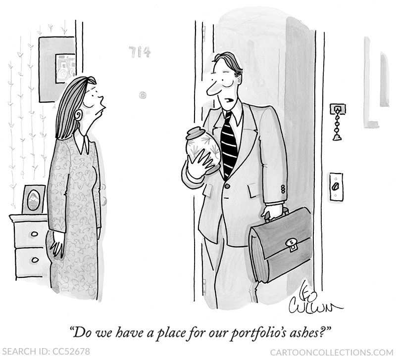 Leo Cullum cartoons, stock market cartoons