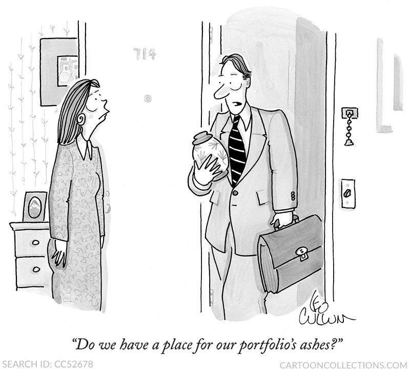 Leo Cullum cartoons, stock market cartoons