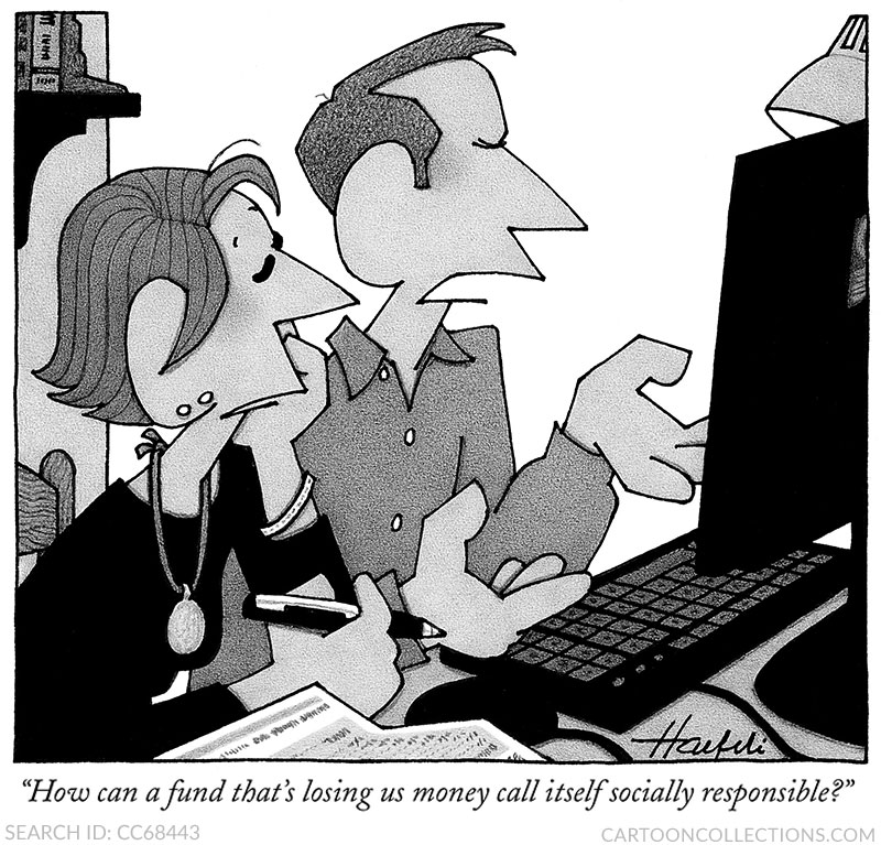William Haefeli cartoons, stock market cartoons