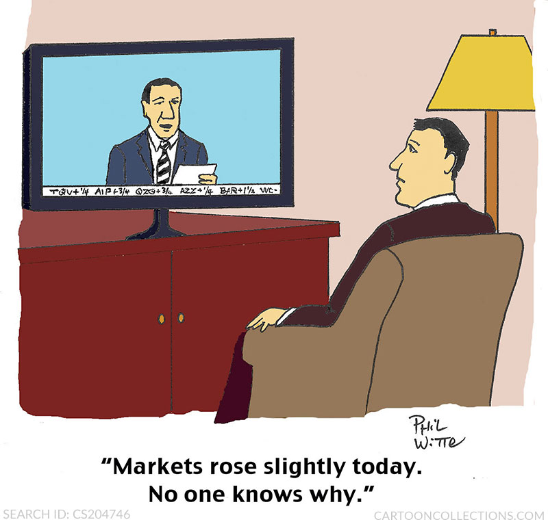Phil Witte cartoons, stock market cartoons