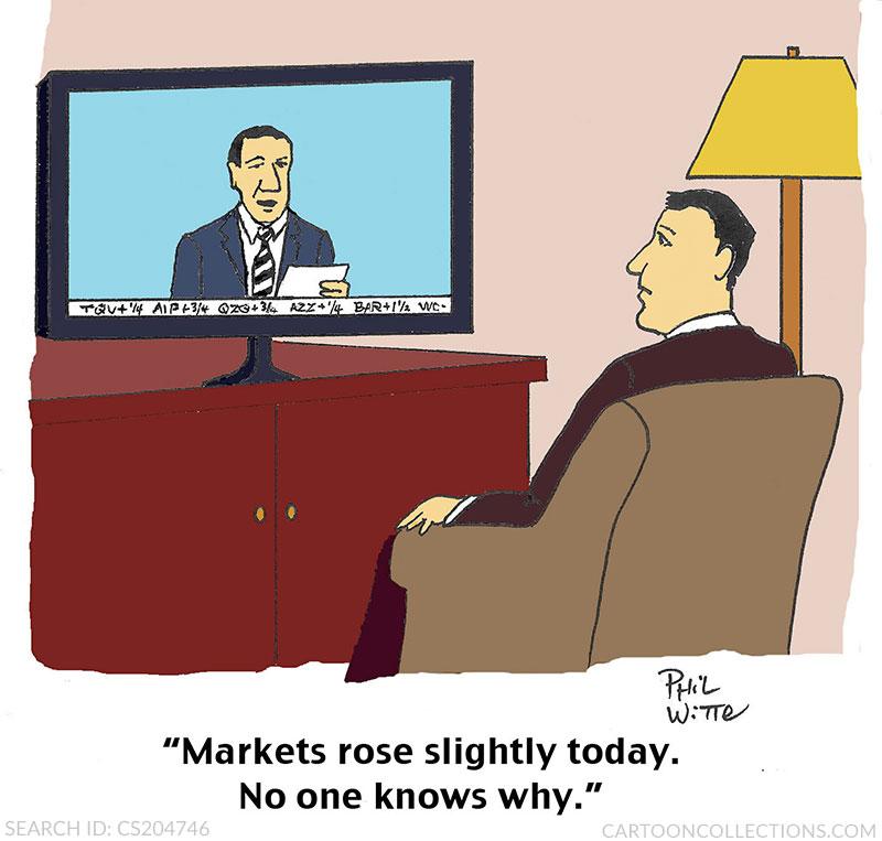 Phil Witte cartoons, stock market cartoons