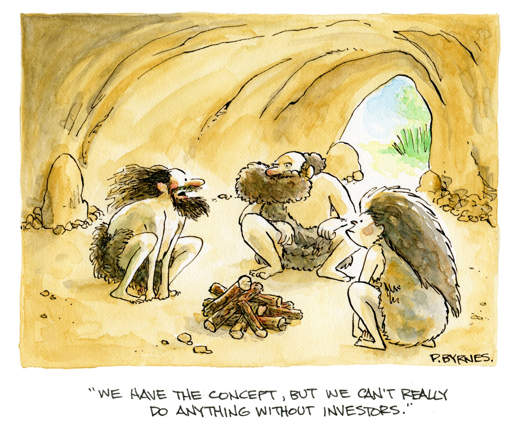 Pat Byrnes original cartoons