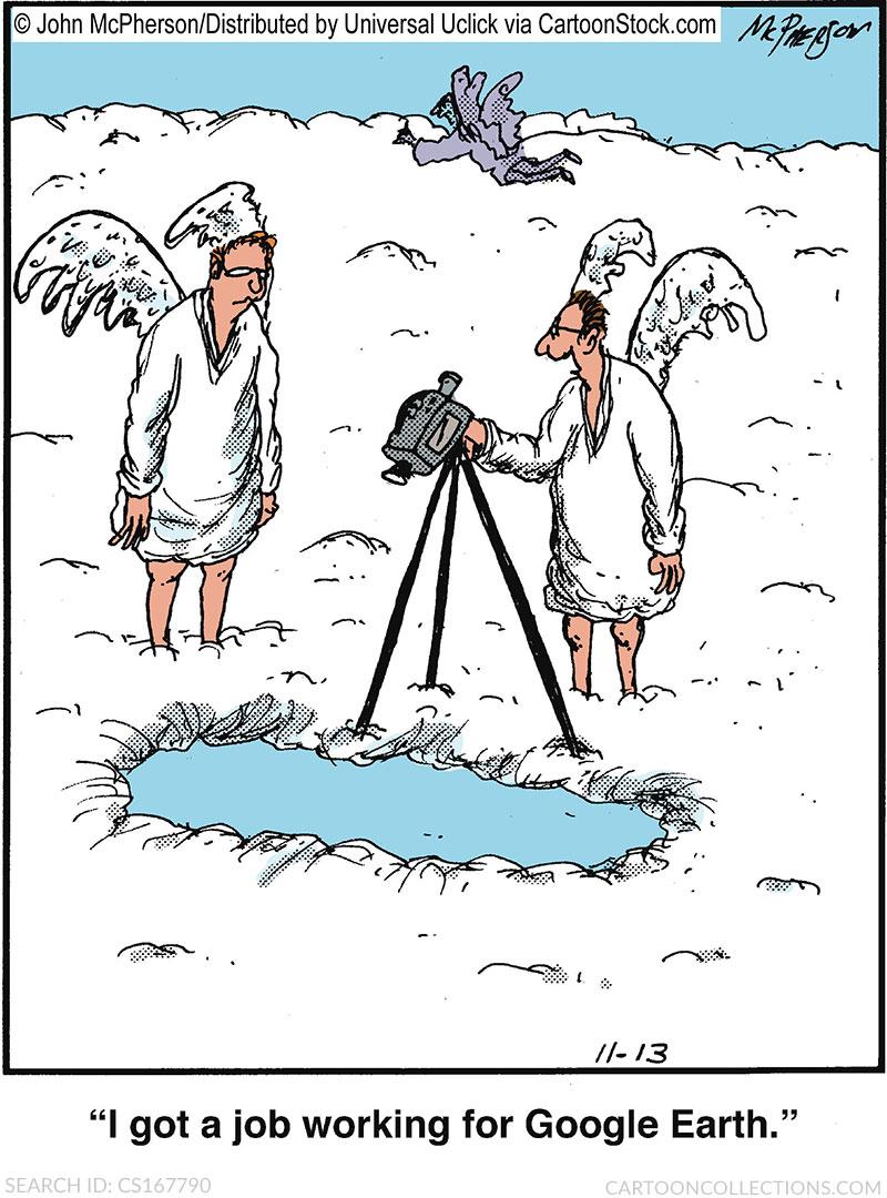 google earth cartoon