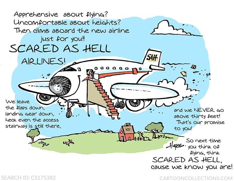 fear of flying cartoons