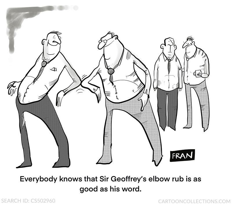 Handshake cartoons