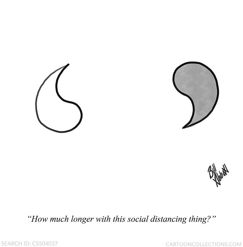 social distance cartoons