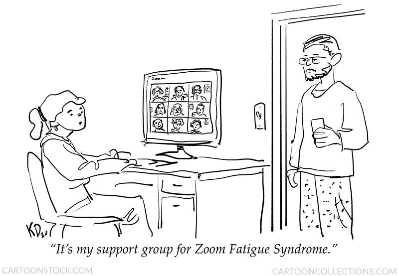 Zoom meeting cartoons