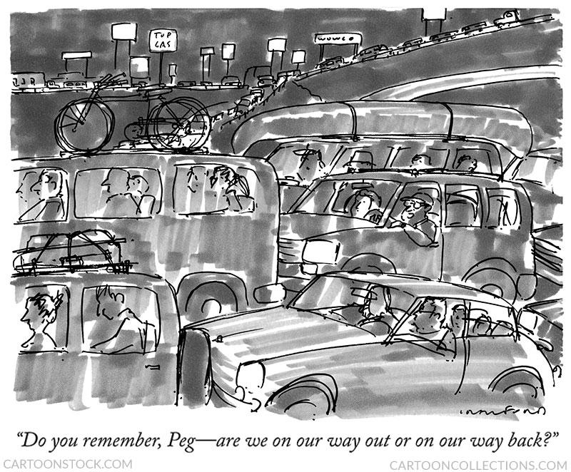 Road trip cartoons