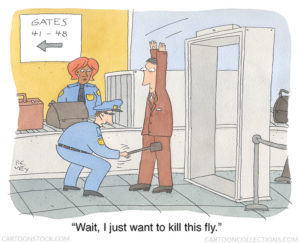 Airport security cartoons