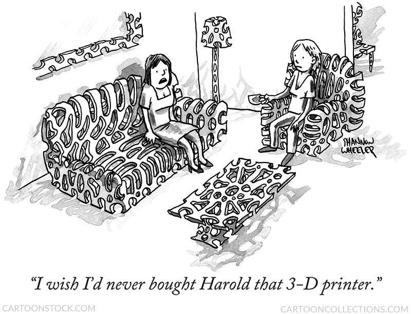 3-D printing cartoons