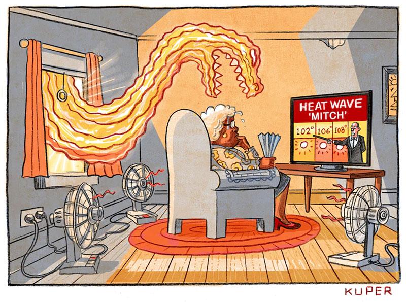 Cartoonathon Cartoon - Peter Kuper