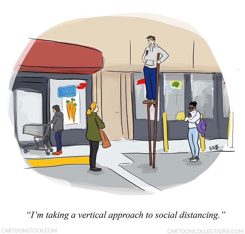 social distancing cartoons