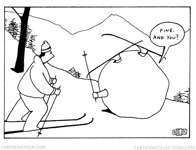 snow cartoons