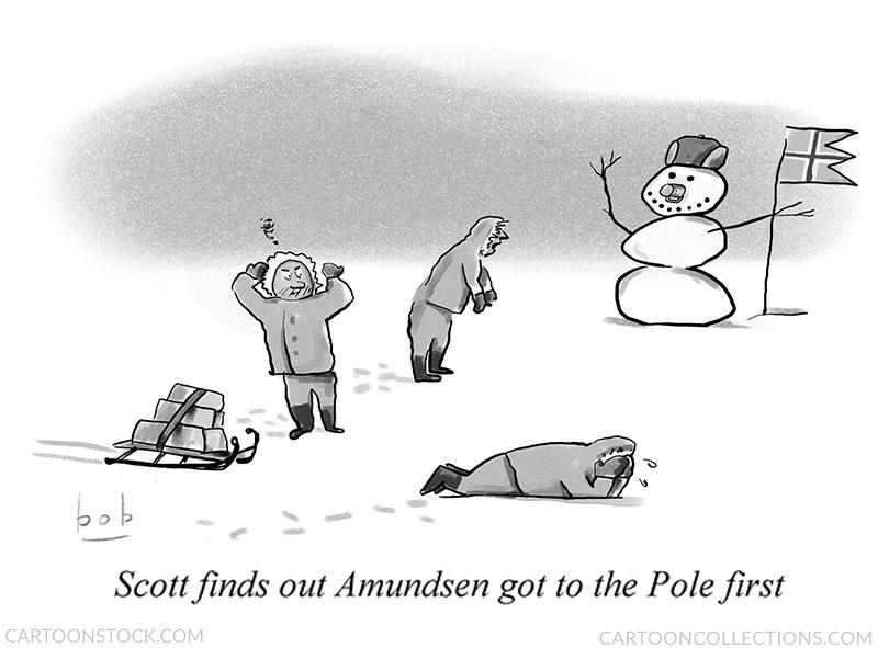 north pole cartoon