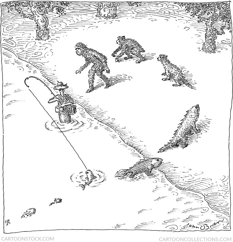evolution cartoons