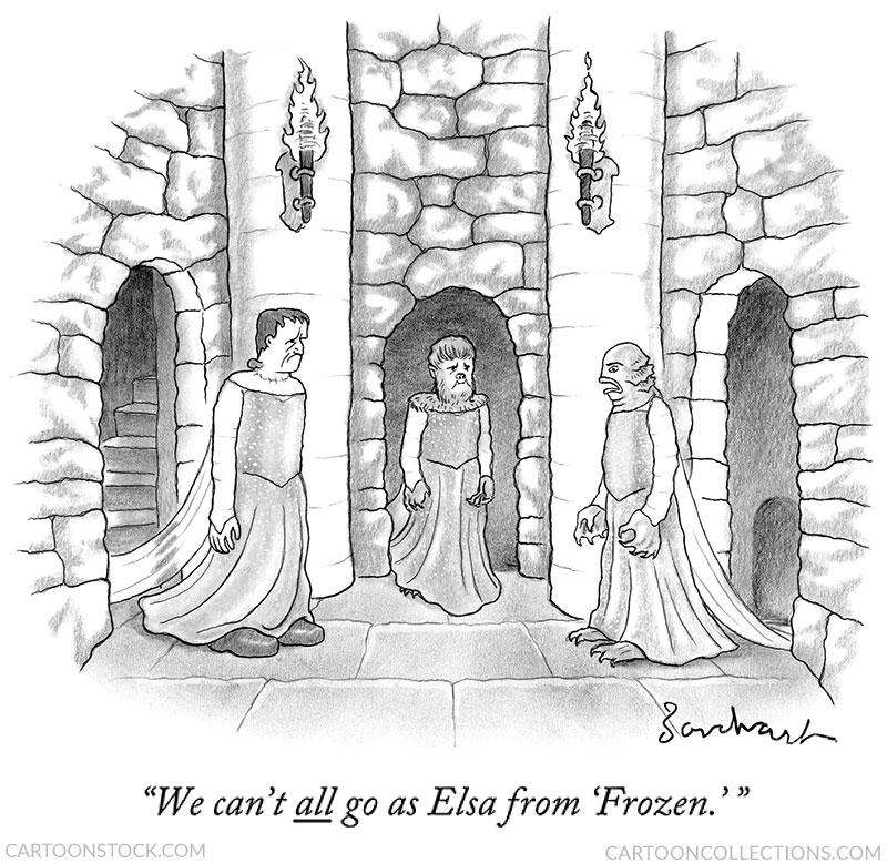 Frankenstein cartoons