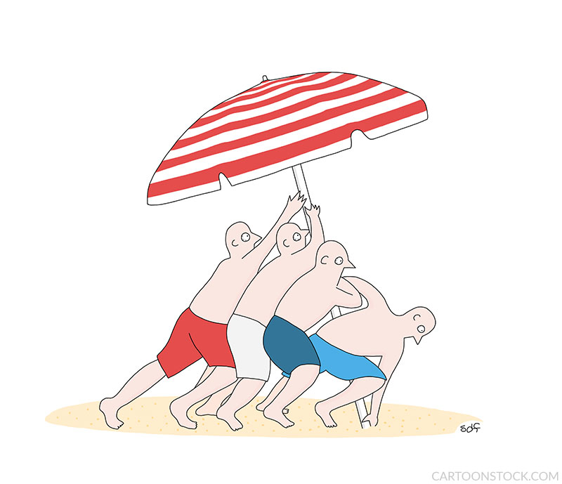 beach cartoons