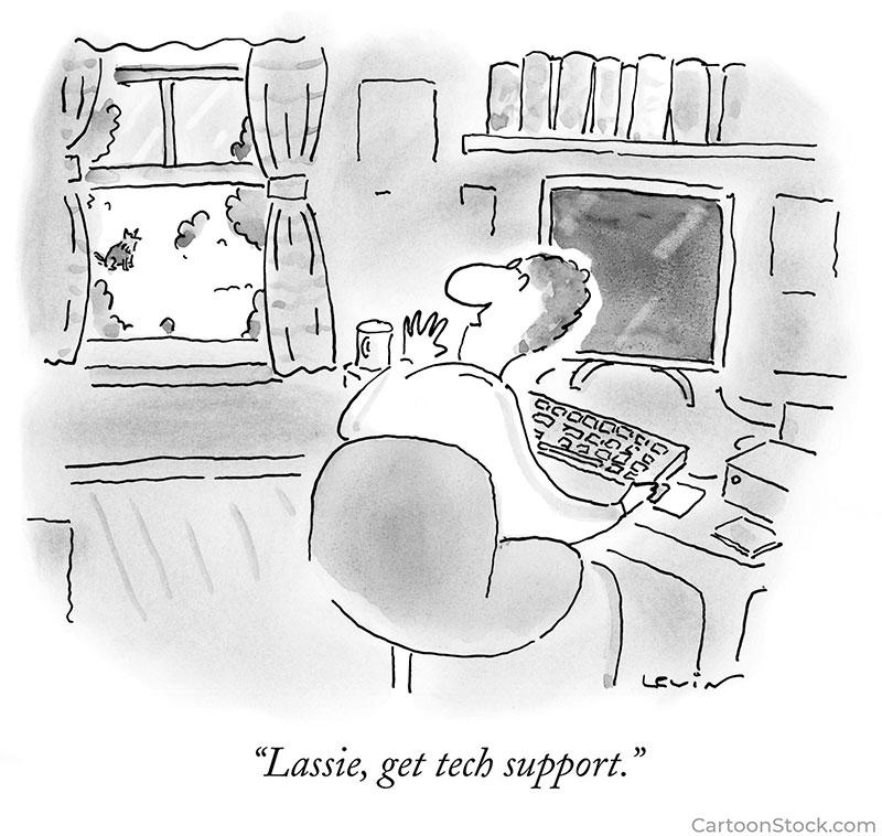 tech support cartoons