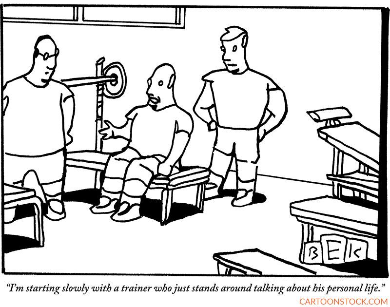 gym cartoons